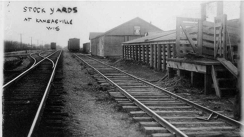 Stock yards at Kansasville, WI